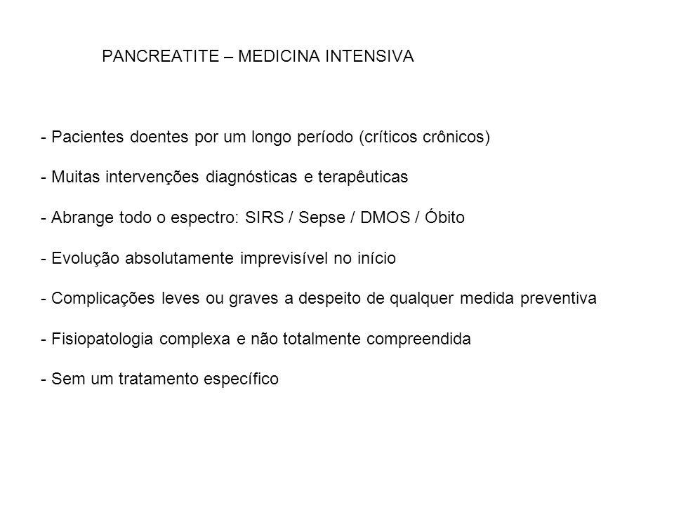 PANCREATITE – MEDICINA INTENSIVA