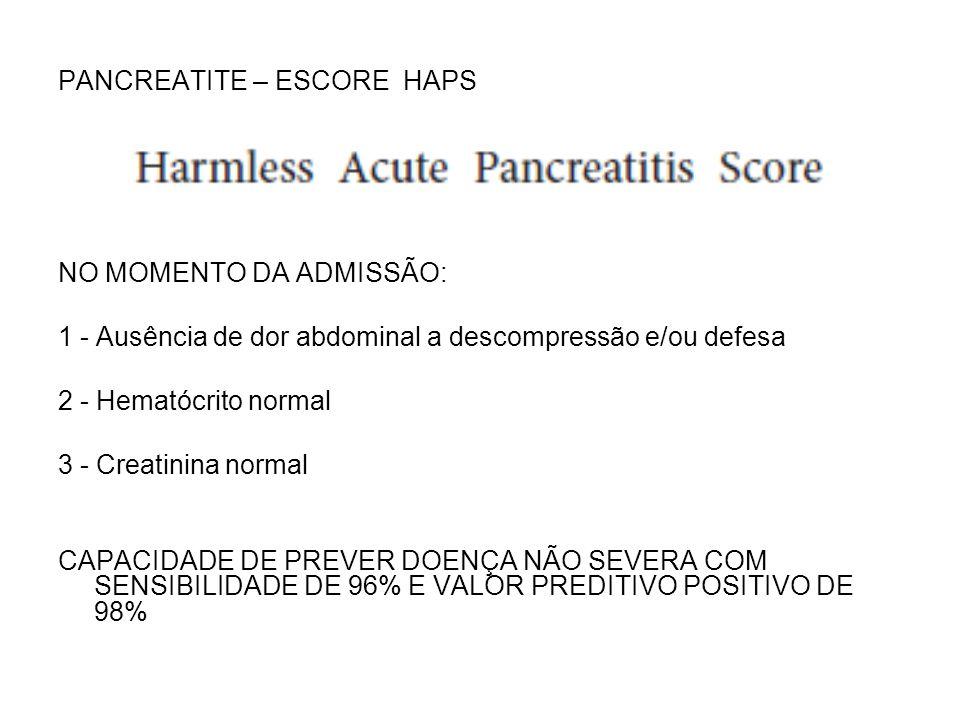 PANCREATITE – ESCORE HAPS
