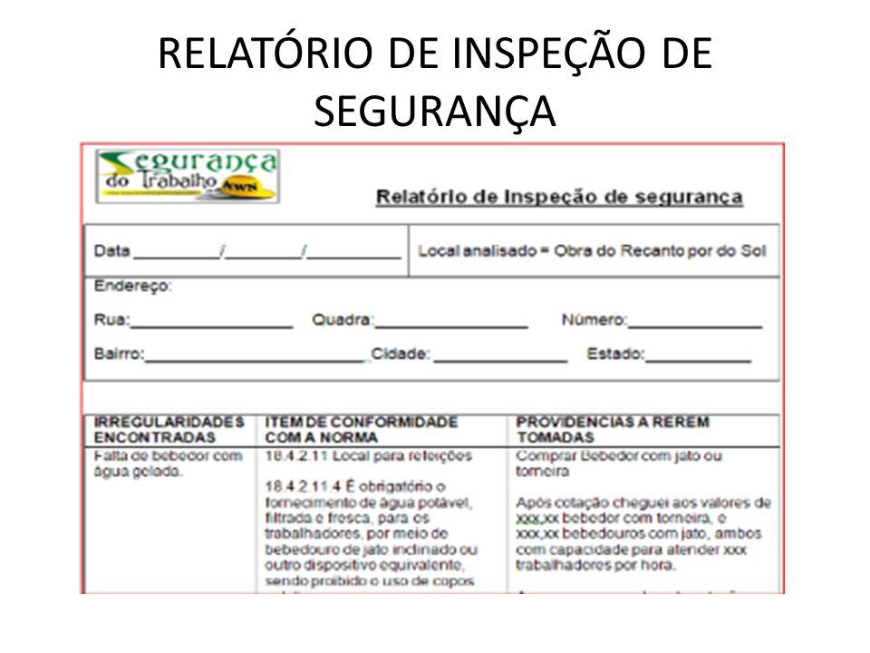 RELATÓRIO DE INSPEÇÃO DE SEGURANÇA