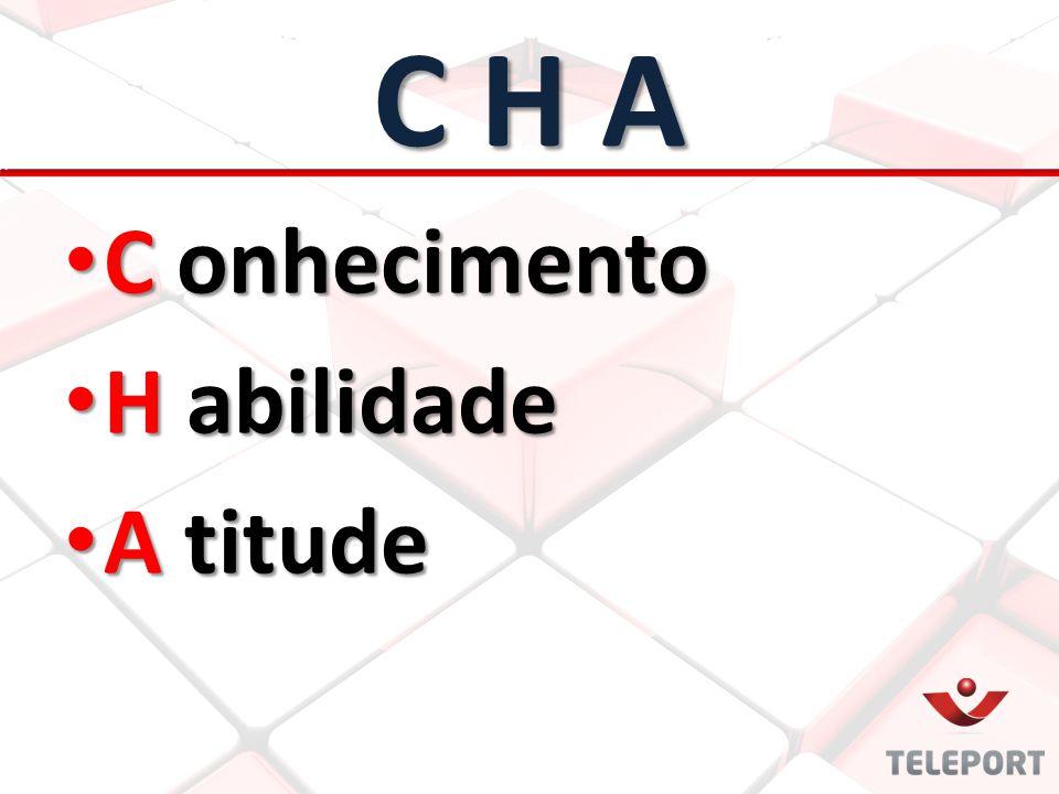 C H A C onhecimento H abilidade A titude