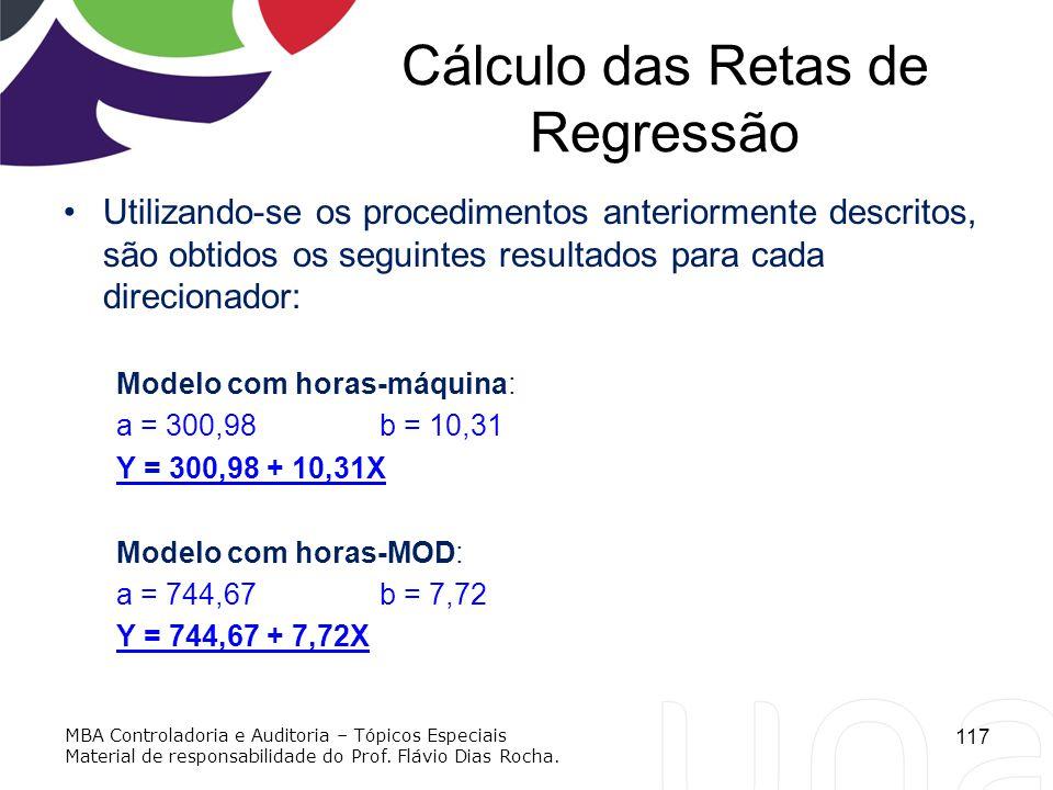 Cálculo das Retas de Regressão