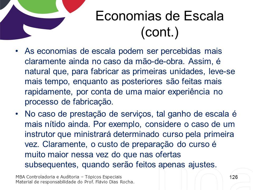 Economias de Escala (cont.)
