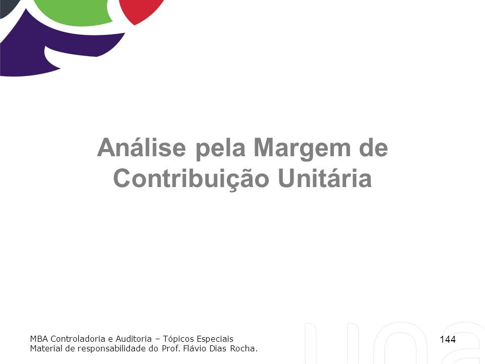 Análise pela Margem de Contribuição Unitária