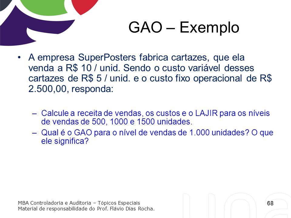 GAO – Exemplo