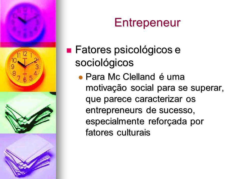 Entrepeneur Fatores psicológicos e sociológicos