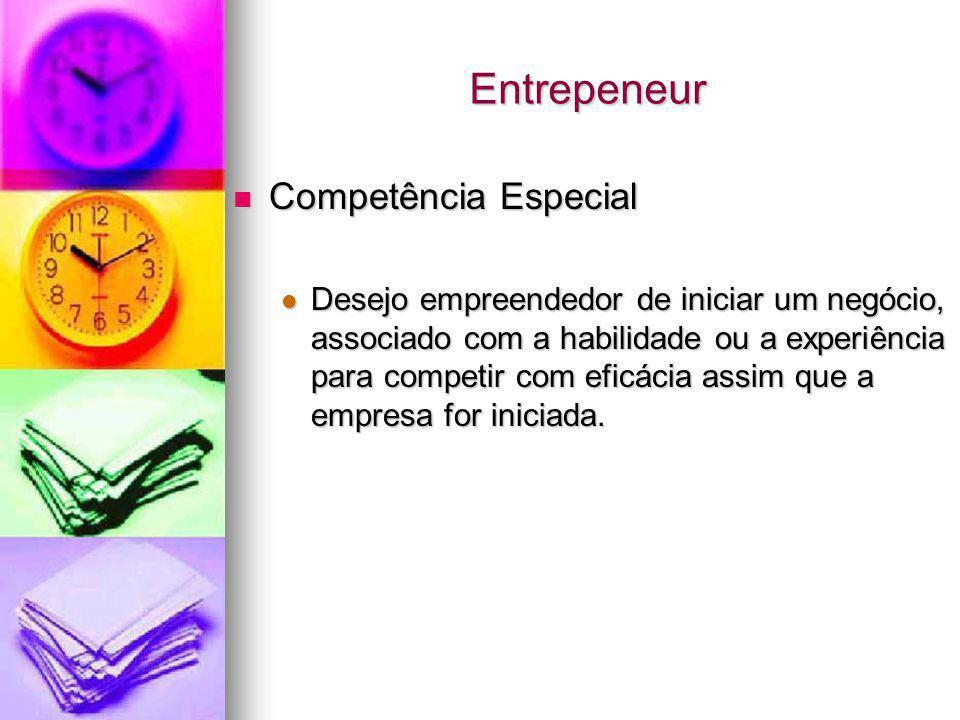 Entrepeneur Competência Especial
