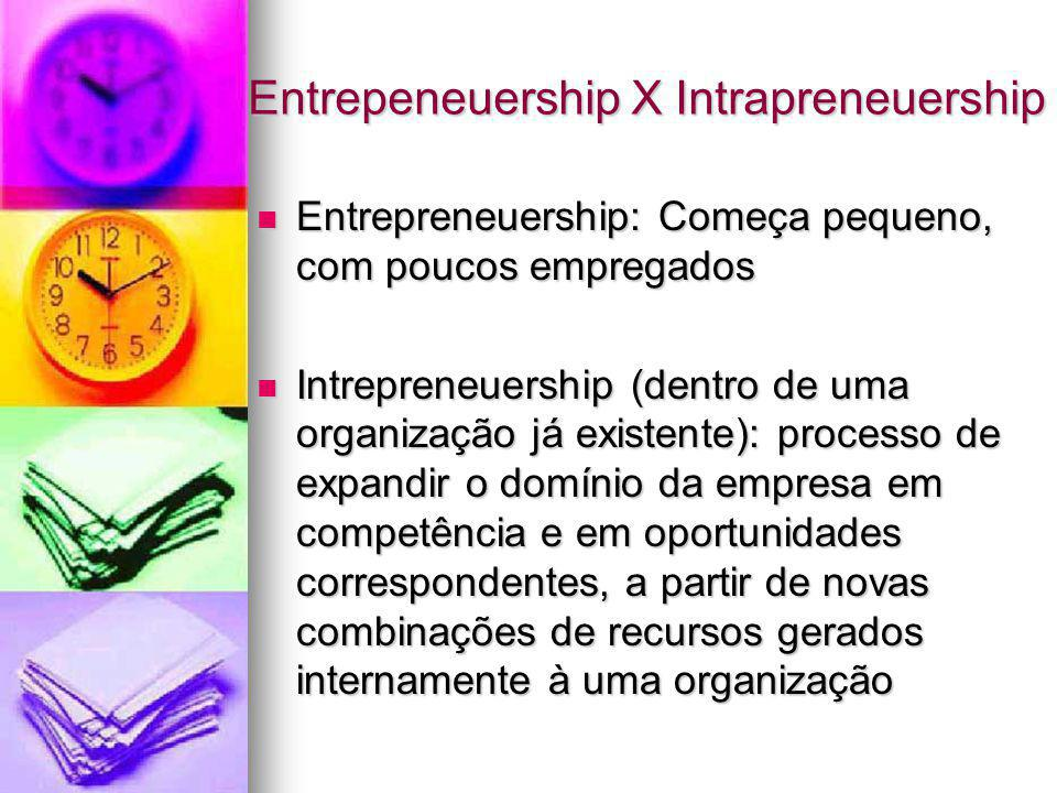 Entrepeneuership X Intrapreneuership