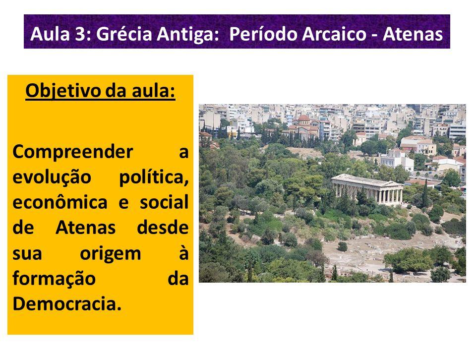Aula 3: Grécia Antiga: Período Arcaico - Atenas