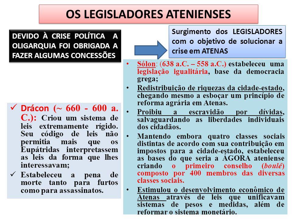 OS LEGISLADORES ATENIENSES