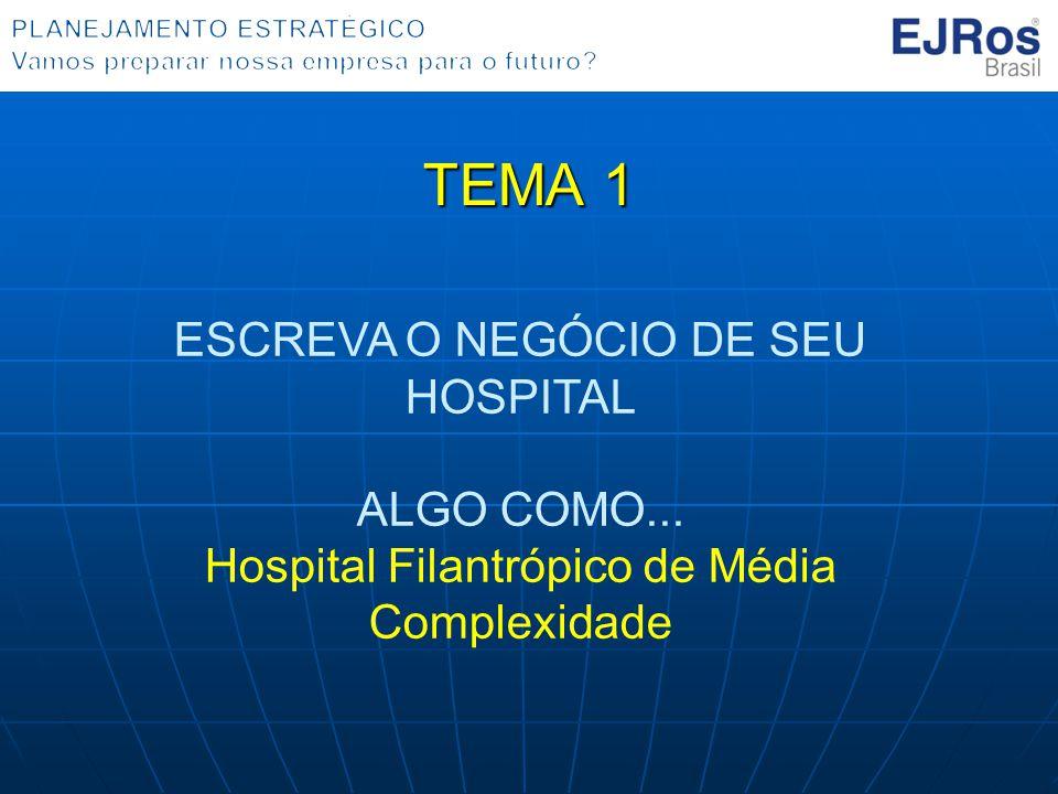 TEMA 1 ESCREVA O NEGÓCIO DE SEU HOSPITAL ALGO COMO...