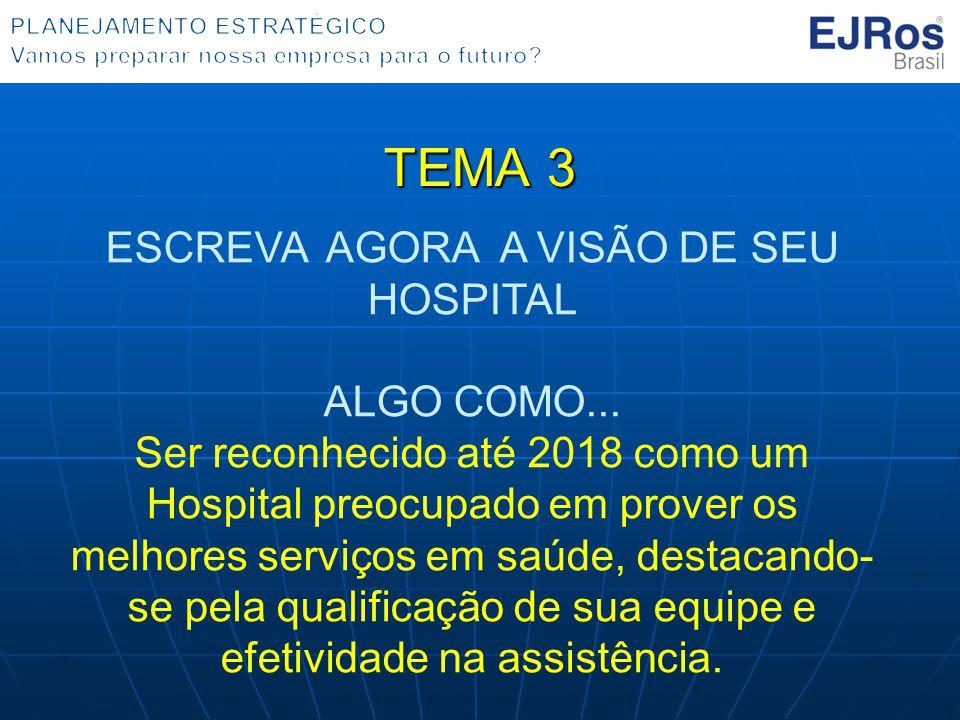 ESCREVA AGORA A VISÃO DE SEU HOSPITAL