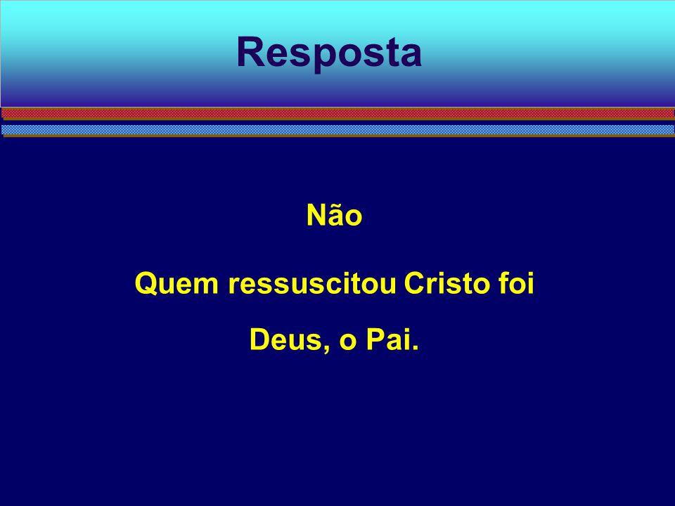 Quem ressuscitou Cristo foi