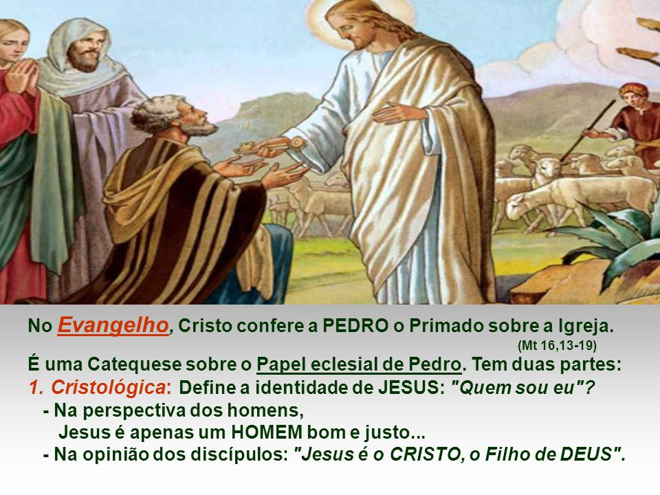 1. Cristológica: Define a identidade de JESUS: Quem sou eu