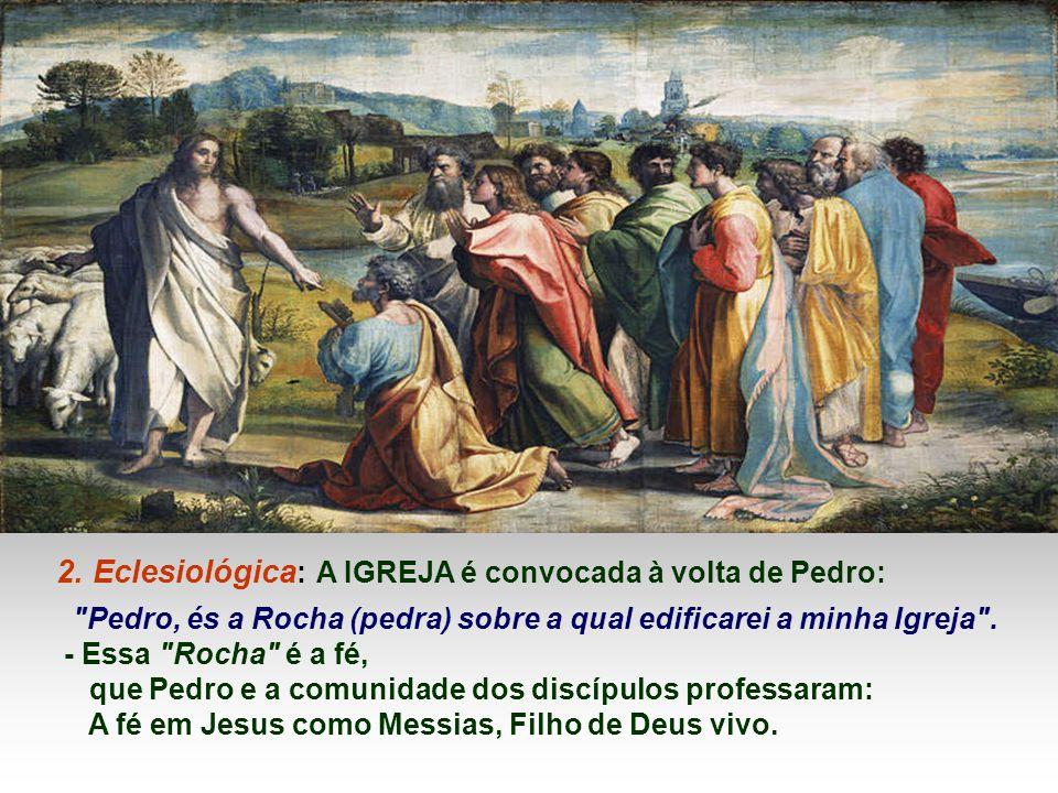 2. Eclesiológica: A IGREJA é convocada à volta de Pedro: