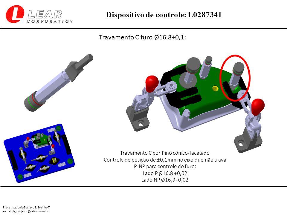 Travamento C furo Ø16,8+0,1: Travamento C por Pino cônico-facetado