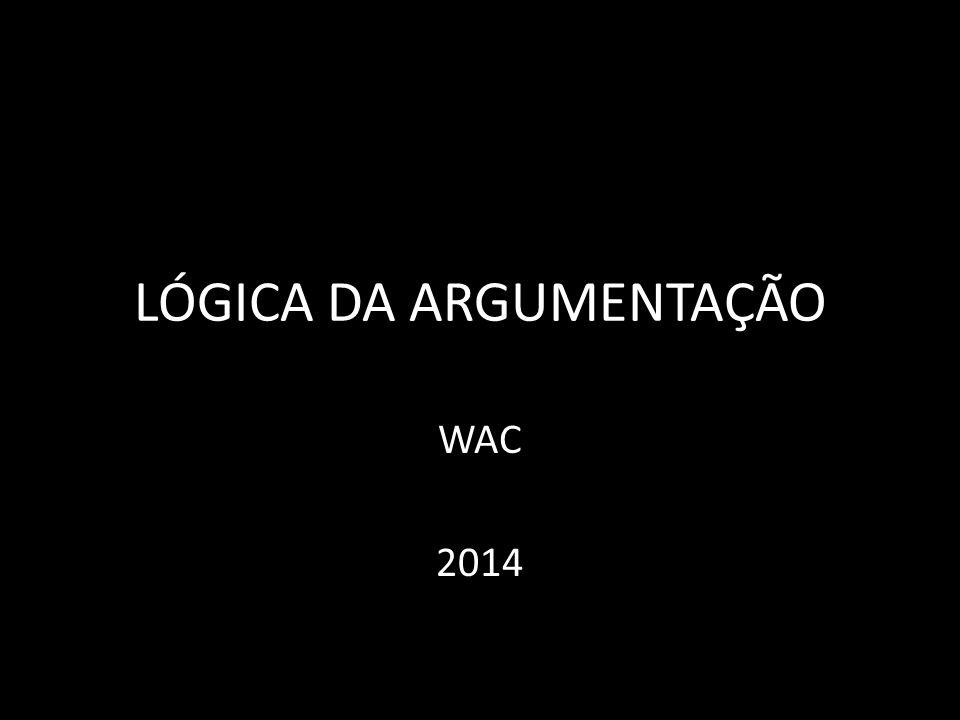 LÓGICA DA ARGUMENTAÇÃO
