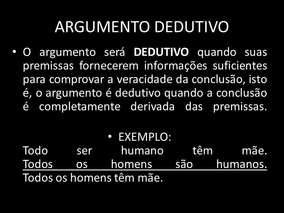 ARGUMENTO DEDUTIVO
