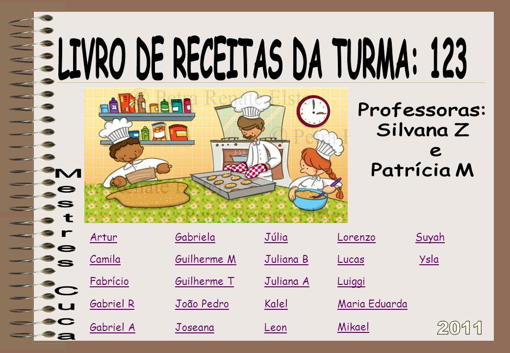 LIVRO DE RECEITAS DA TURMA: 123
