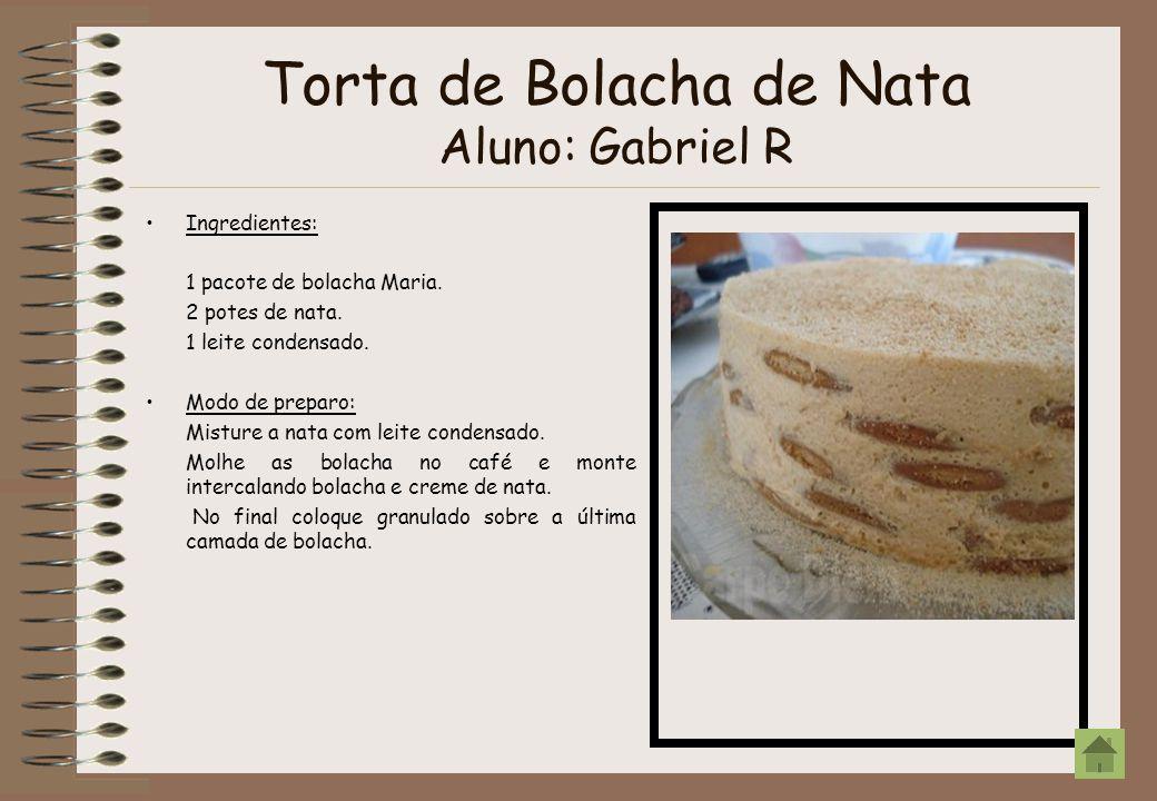 Torta de Bolacha de Nata Aluno: Gabriel R