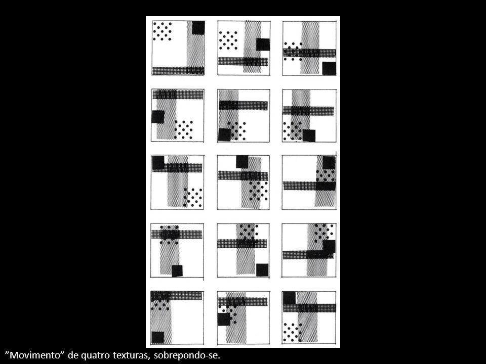 Movimento de quatro texturas, sobrepondo-se.