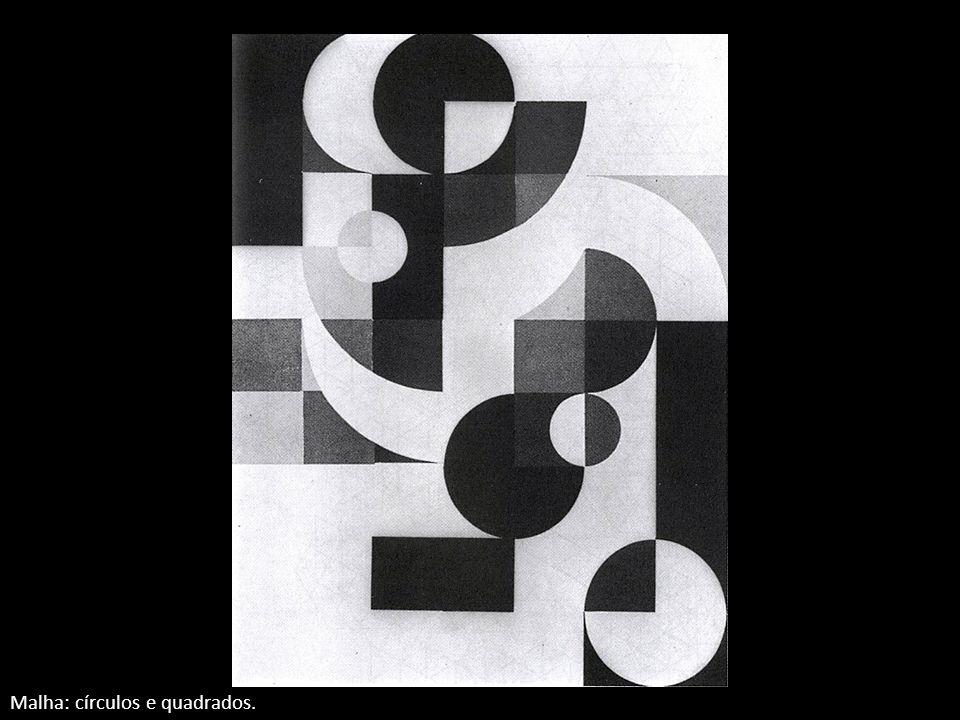 Malha: círculos e quadrados.