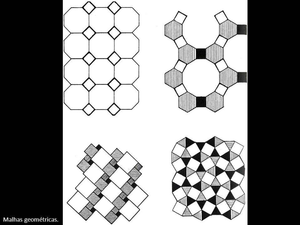 Malhas geométricas.