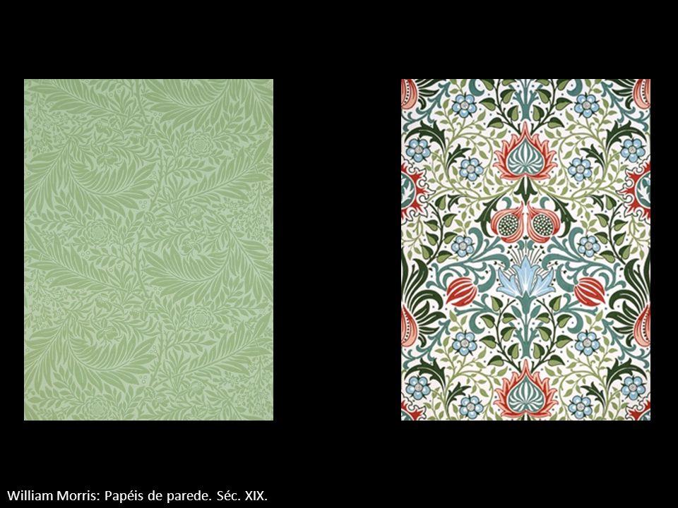 William Morris: Papéis de parede. Séc. XIX.