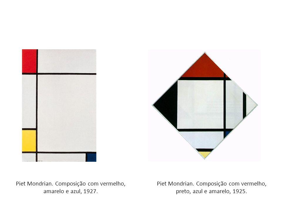 Piet Mondrian. Composição com vermelho, amarelo e azul, 1927.