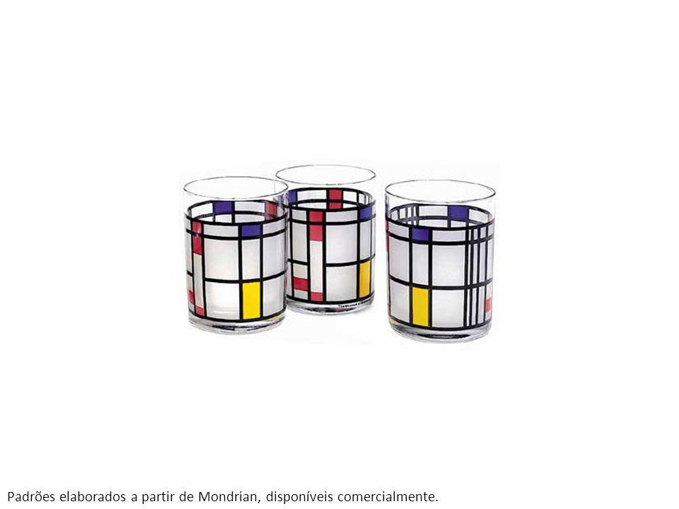 Padrões elaborados a partir de Mondrian, disponíveis comercialmente.