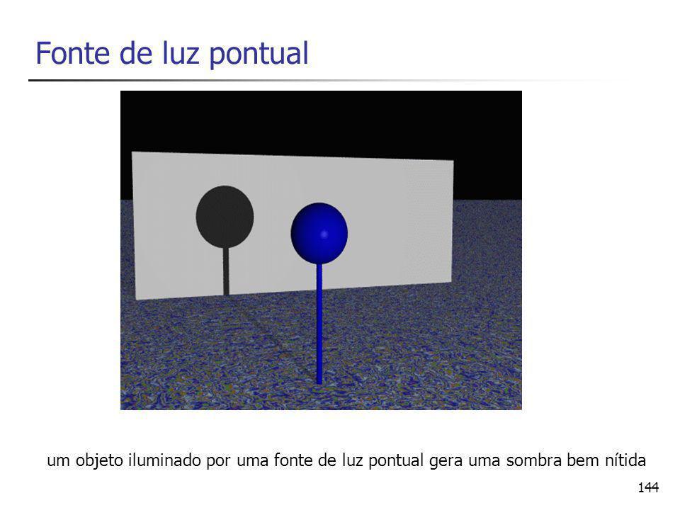 Fonte de luz pontual um objeto iluminado por uma fonte de luz pontual gera uma sombra bem nítida