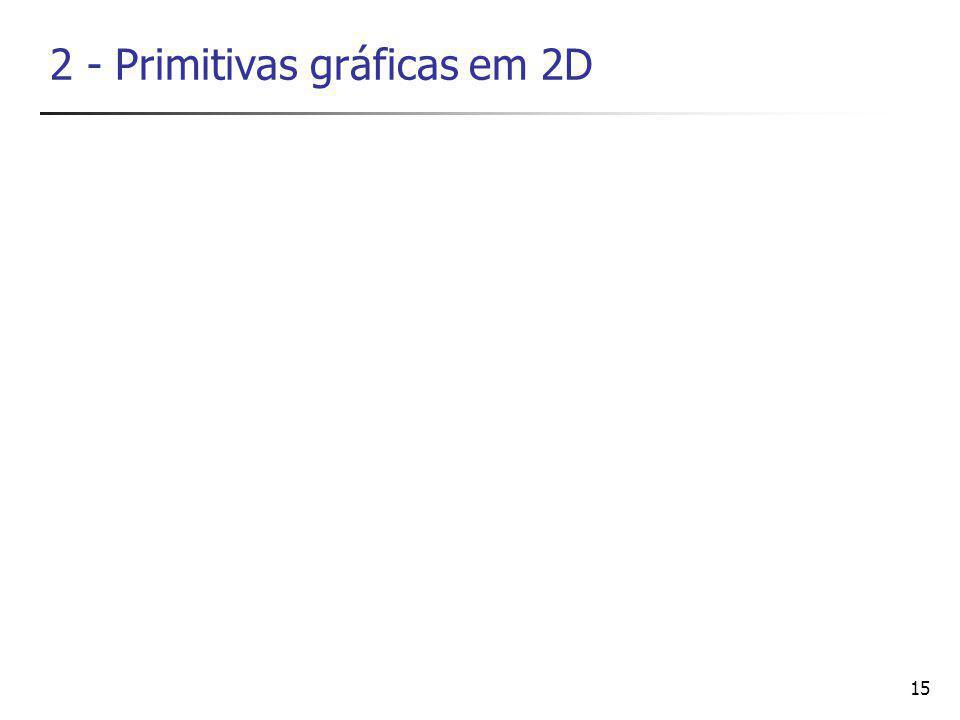 2 - Primitivas gráficas em 2D