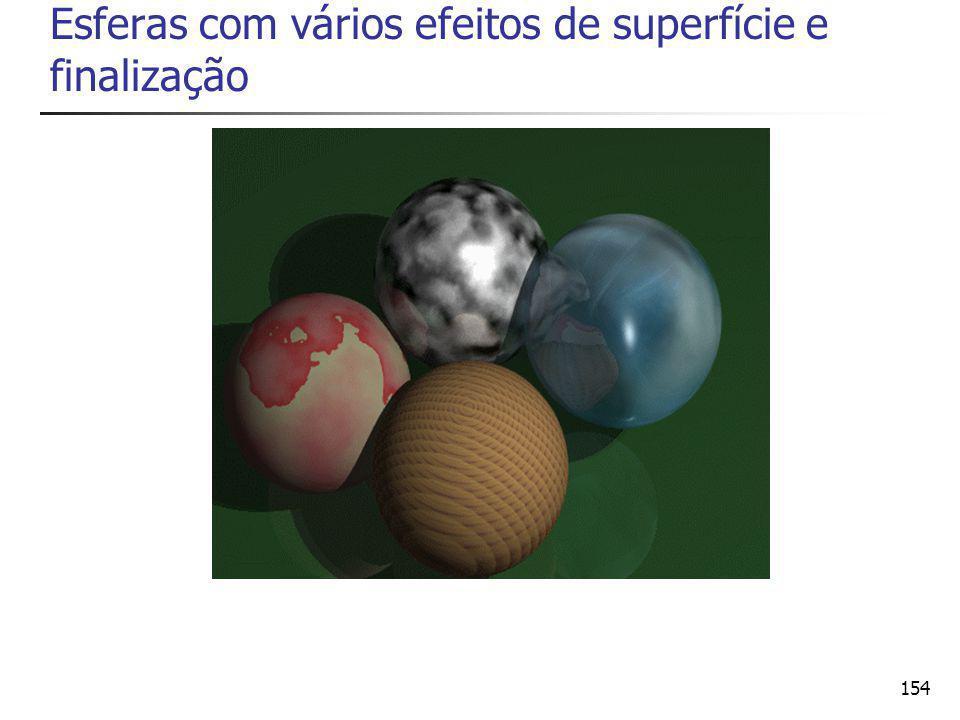 Esferas com vários efeitos de superfície e finalização