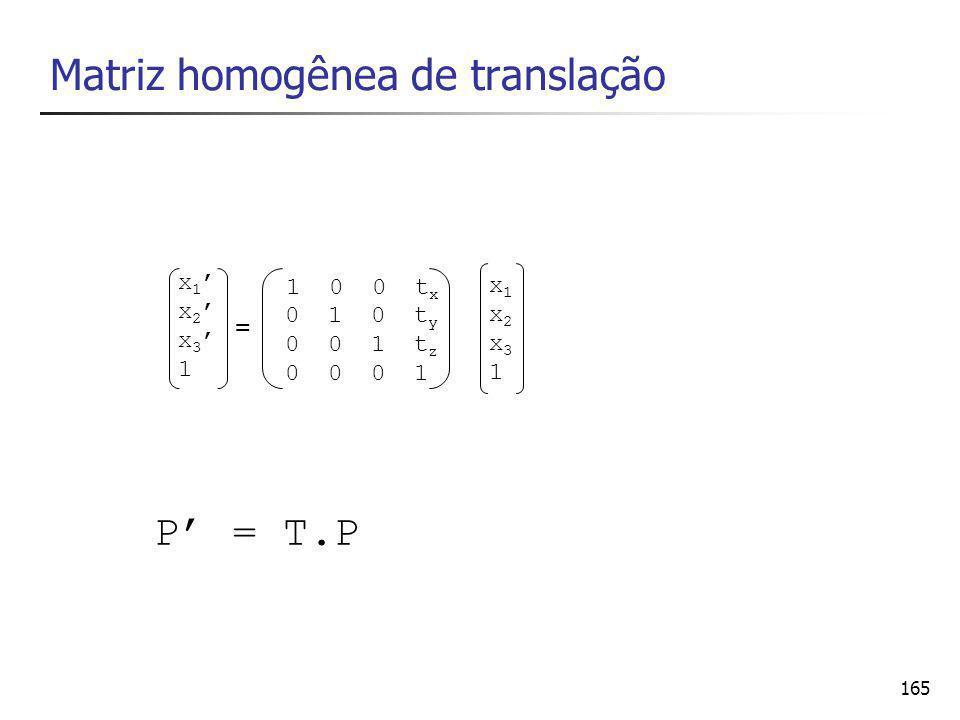 Matriz homogênea de translação