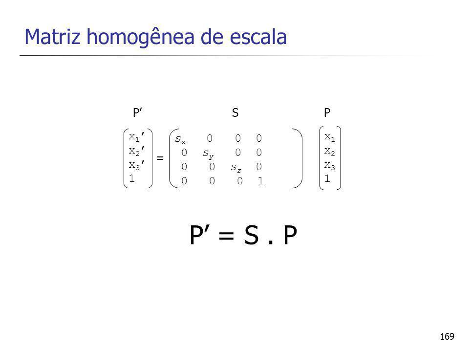 Matriz homogênea de escala