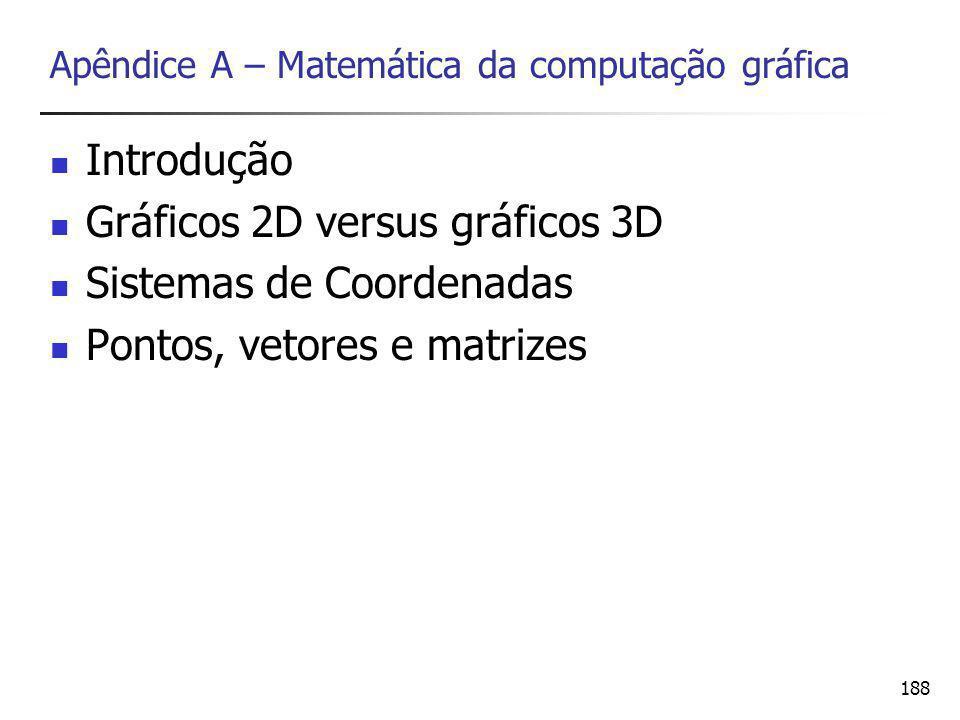 Apêndice A – Matemática da computação gráfica