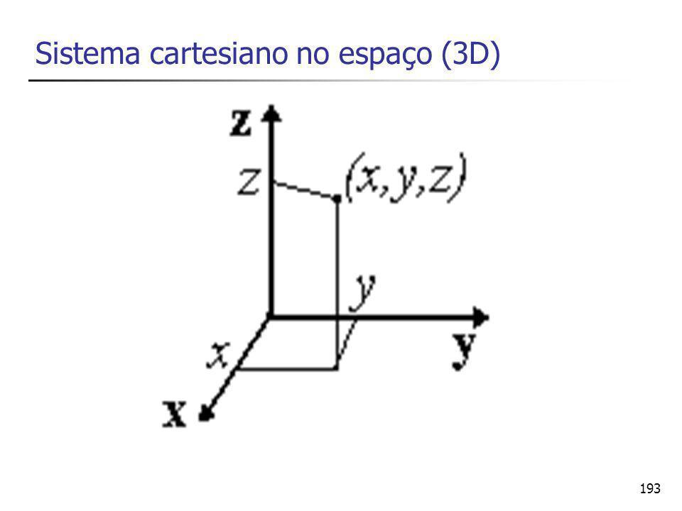 Sistema cartesiano no espaço (3D)