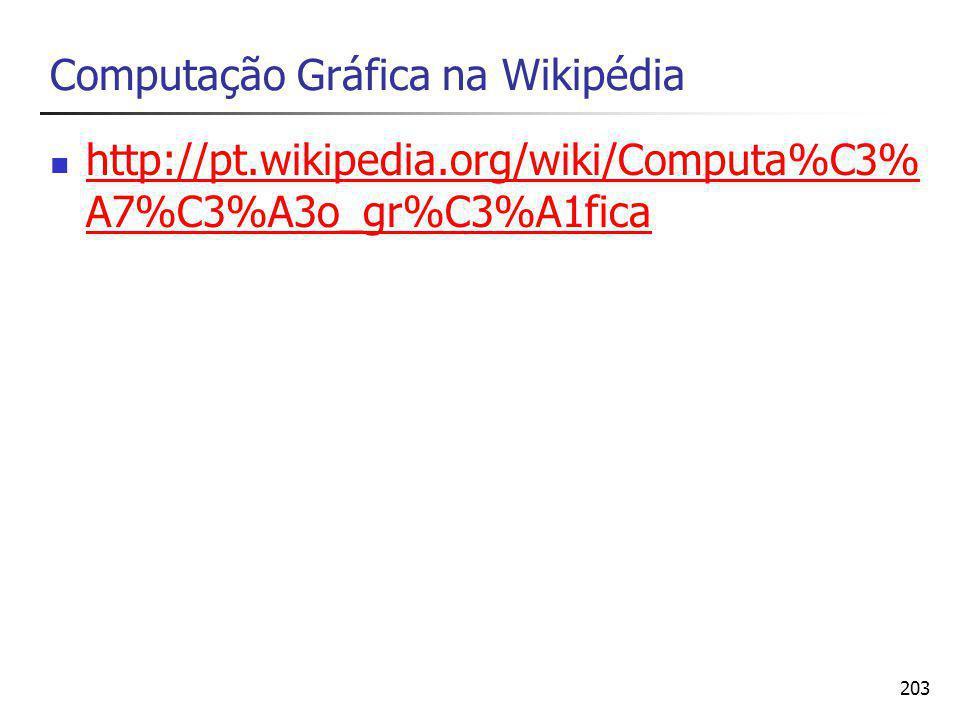 Computação Gráfica na Wikipédia