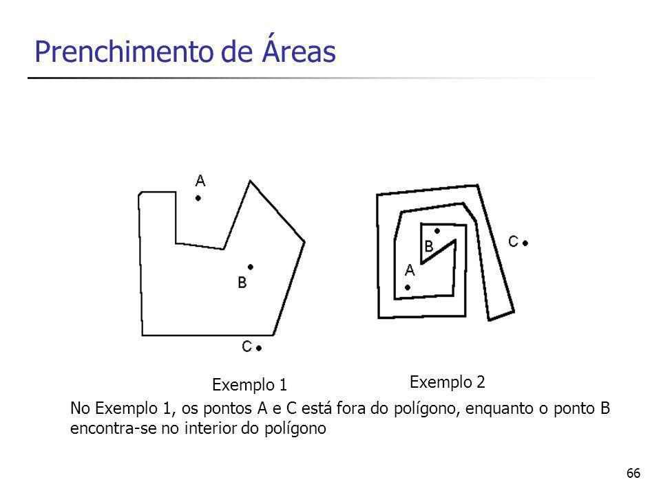 Prenchimento de Áreas Exemplo 2 Exemplo 1