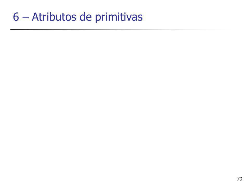 6 – Atributos de primitivas