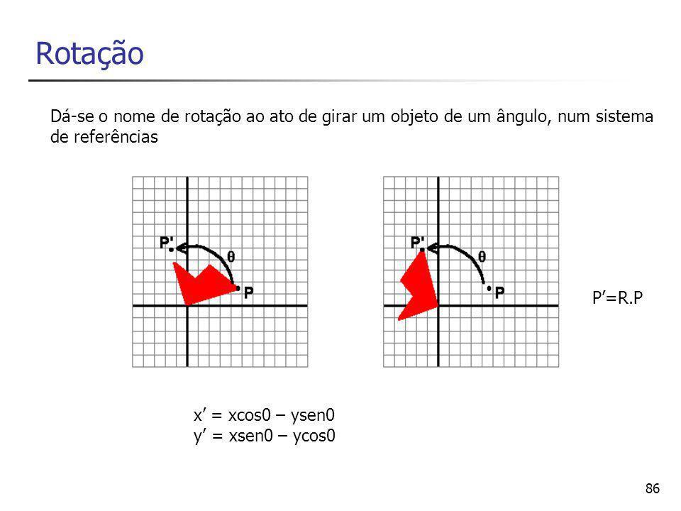 Rotação Dá-se o nome de rotação ao ato de girar um objeto de um ângulo, num sistema. de referências.
