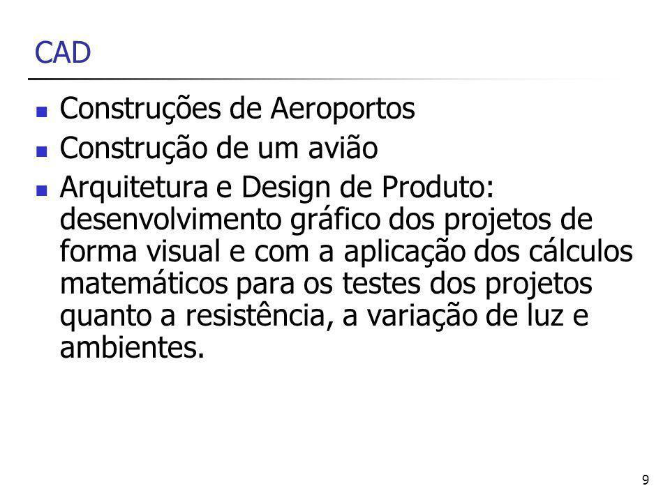 CAD Construções de Aeroportos. Construção de um avião.