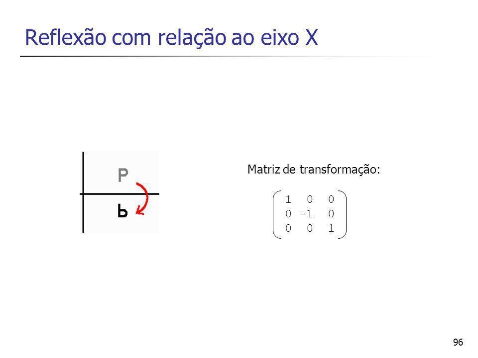 Reflexão com relação ao eixo X