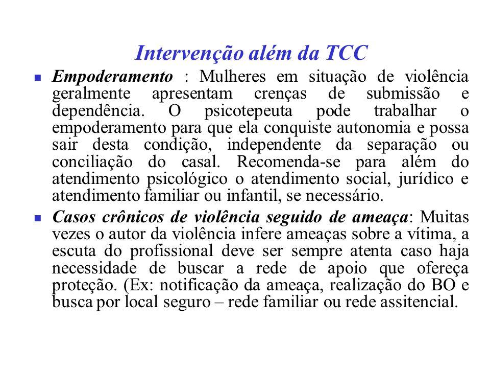 Intervenção além da TCC