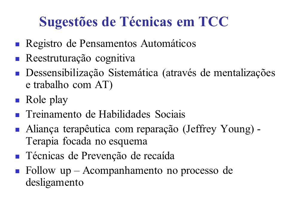 Sugestões de Técnicas em TCC