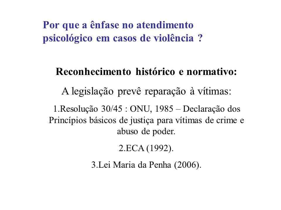 Reconhecimento histórico e normativo:
