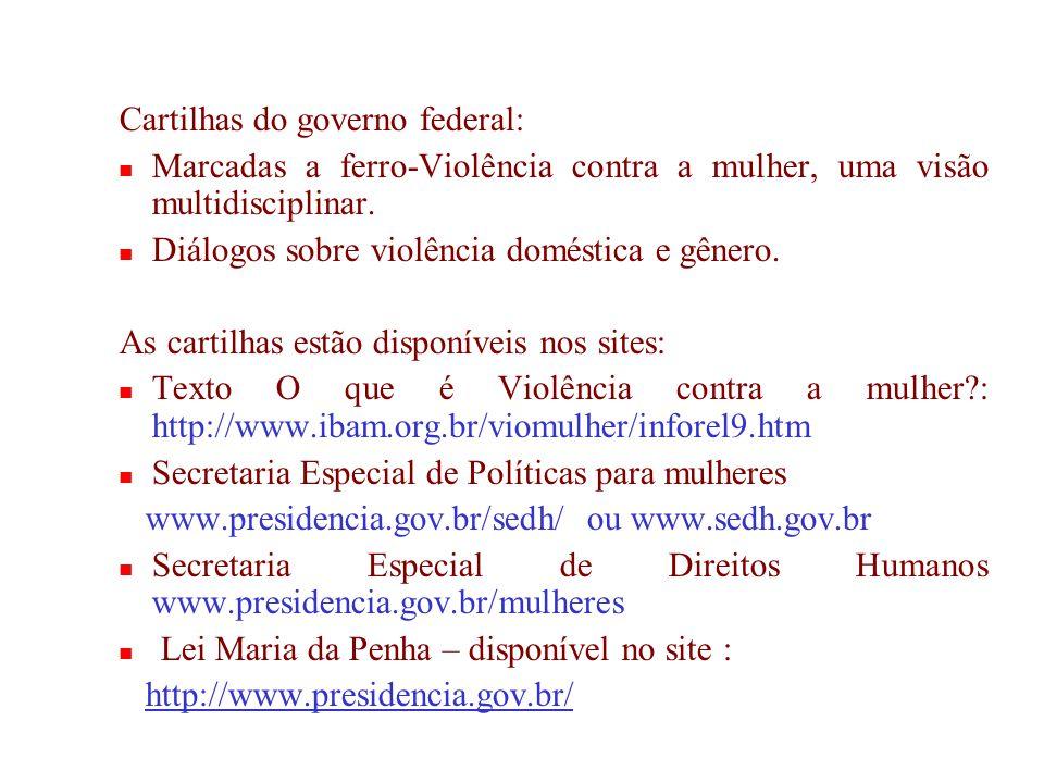 Cartilhas do governo federal: