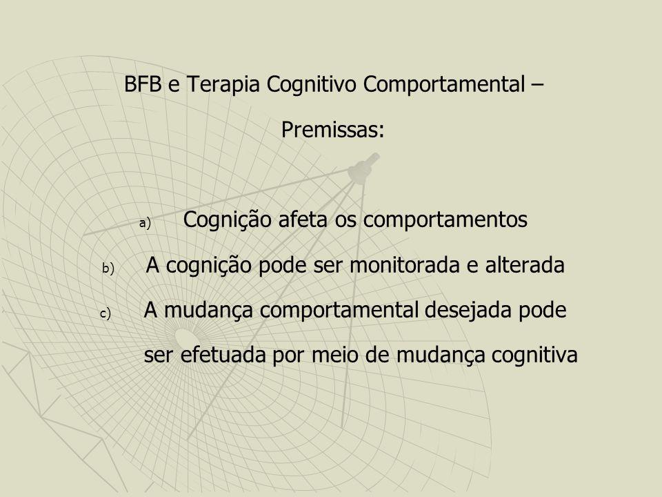 BFB e Terapia Cognitivo Comportamental – Premissas: