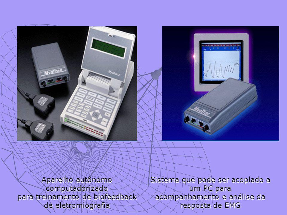 . Aparelho autônomo computadorizado para treinamento de biofeedback de eletromiografia.