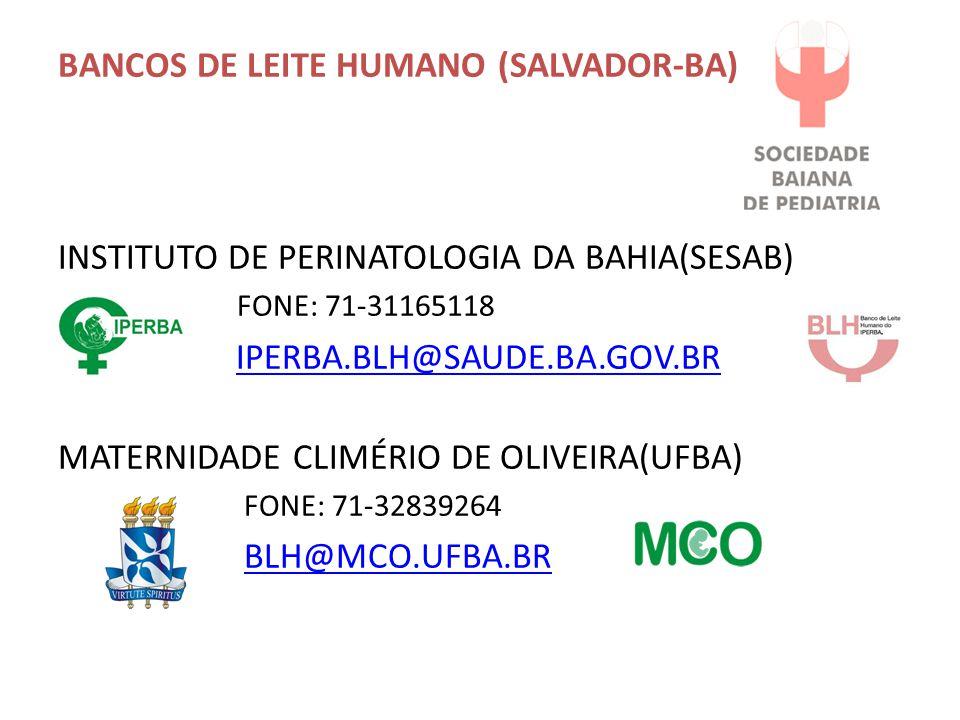 BANCOS DE LEITE HUMANO (SALVADOR-BA)
