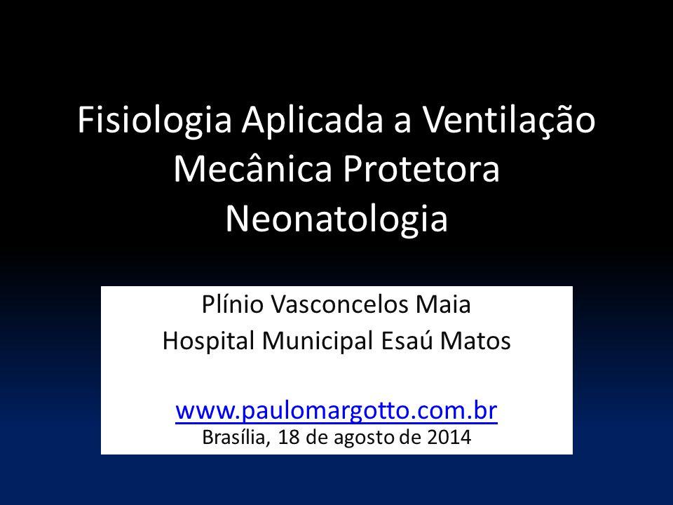 Fisiologia Aplicada a Ventilação Mecânica Protetora Neonatologia